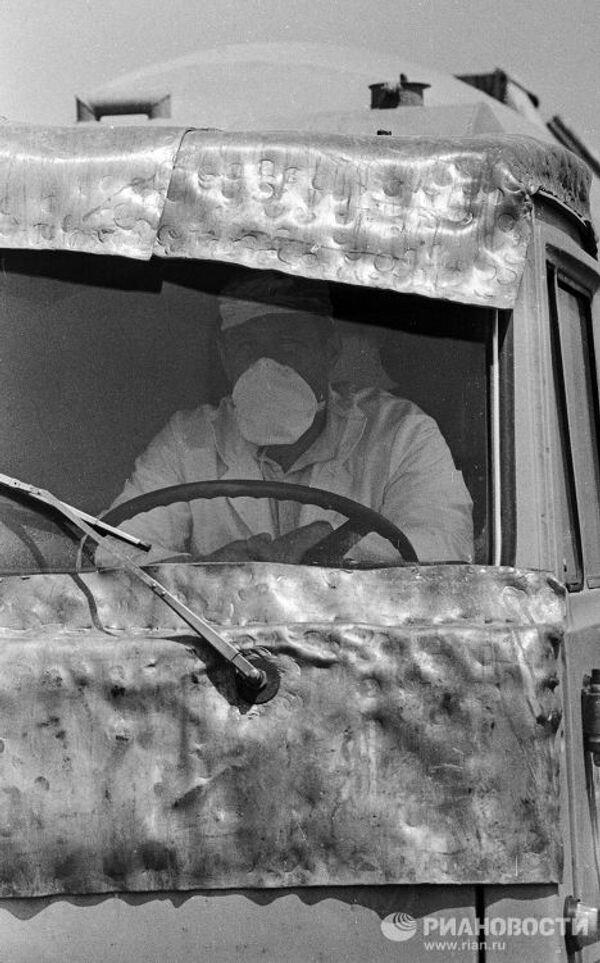 Машина, работавшая в зоне Чернобыльской АЭС