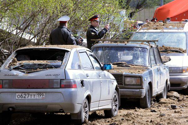 Авария на газопроводе в Москве