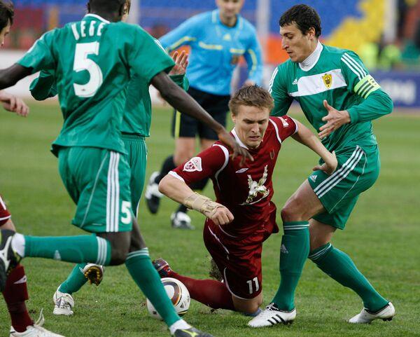 Игровой момент матча Рубин  - Анжи
