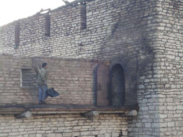 Псковский Кремль после пожара
