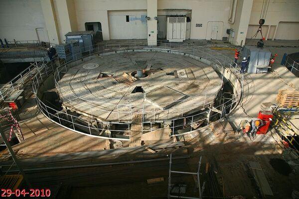 Восьмой гидроагрегат начали демонтировать на СШГЭС