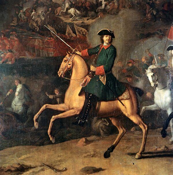 Портрет Петра Первого на коне