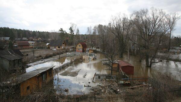 Подтопление домов в Новосибирской области