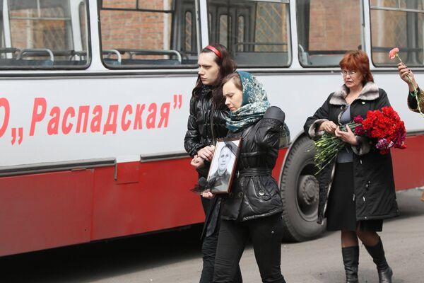 Похороны горняков, погибших во время взрывов на шахте Распадская