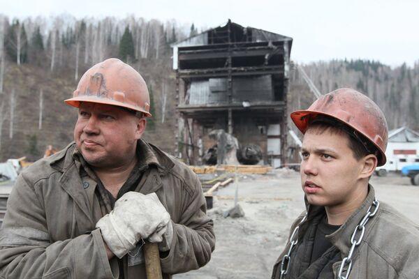 На шахте Распадская в Кемеровской области. Архив