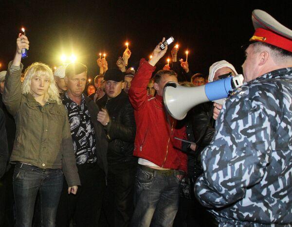 Жители Междуреченска зажгли свечи в память о погибших горняках