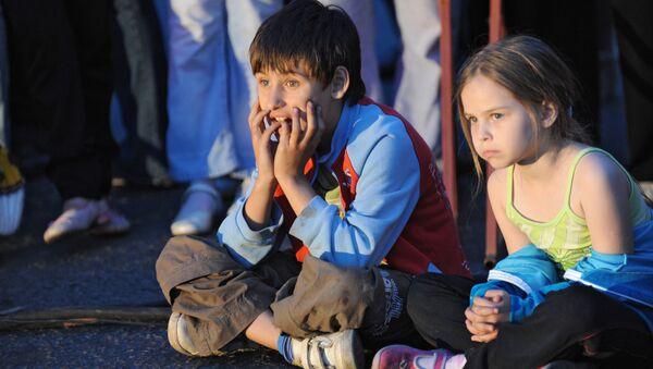 Юные зрители на спектакле
