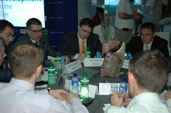 В Российском павильоне на ЭКСПО-2010 состоялся экспертный «круглый стол» по информационно-коммуникационным технологиям