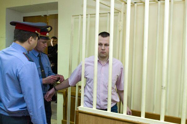 Николай Захаркин в зале заседания Московского окружного военного суда