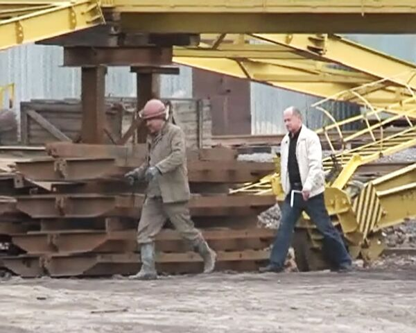 Авария на кузбасской шахте Алексиевская в городе Ленинске-Кузнецком