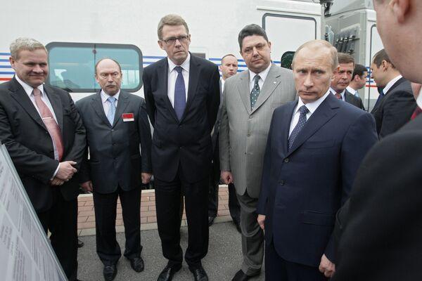 Премьер-министр РФ Владимир Путин во время рабочего визита в Финляндию