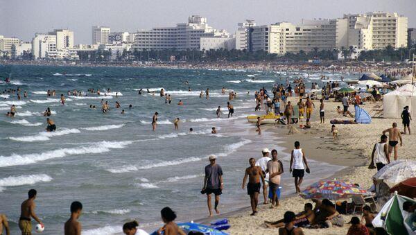 На побережье Средиземного моря в Тунисе
