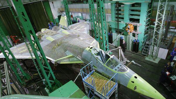 Истребитель пятого поколения Т-50 компании Сухой. Архив