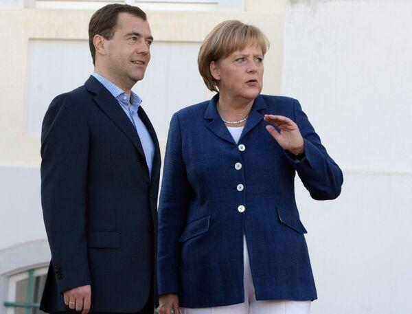 Встреча Дмитрия Медведева с Ангелой Меркель