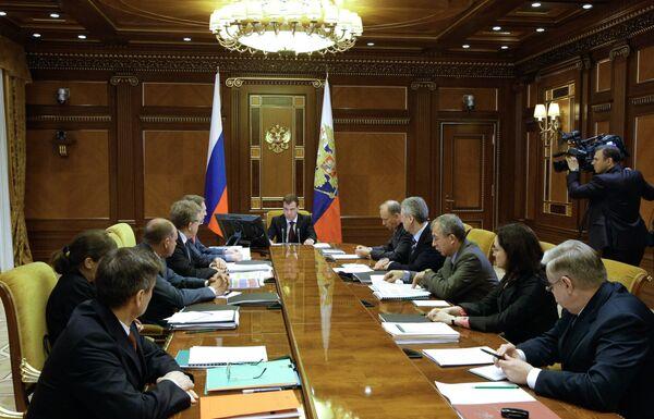 Дмитрий Медведев провел совещание по вопросам реформы МВД РФ