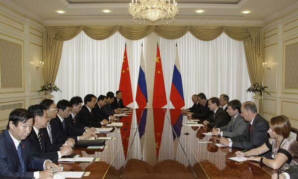 Президент РФ Д.Медведев провел двусторонние встречи в рамках ШОС