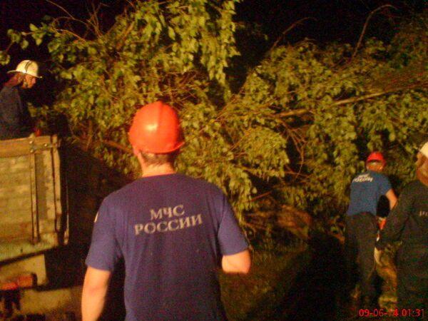 Ликвидация последствий прохождения грозового фронта в Нижегородской области
