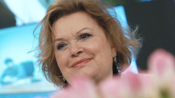 Валентина Талызина на пресс-конференции в РИА Новости