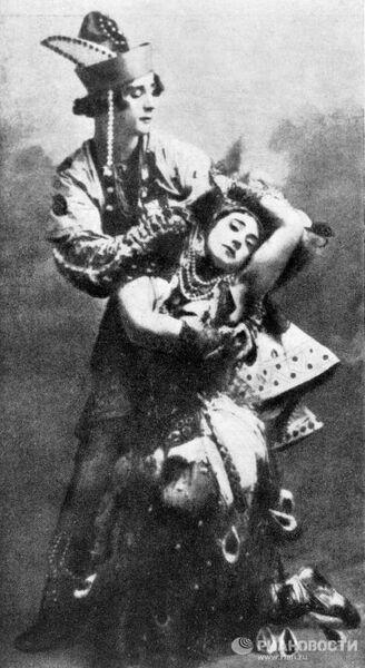 Михаил Фокин и Тамара Карсавина в балете Игоря Стравинского Жар-птица