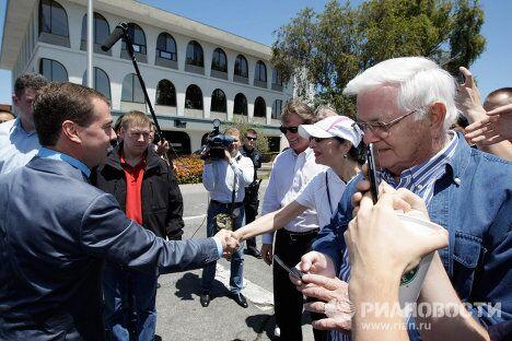 Встреча Дмитрия Медведева с выходцами из России, работающими в Кремниевой долине.