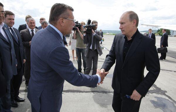 Рабочий визит премьер-министра РФ Владимира Путина в Сибирский федеральный округ