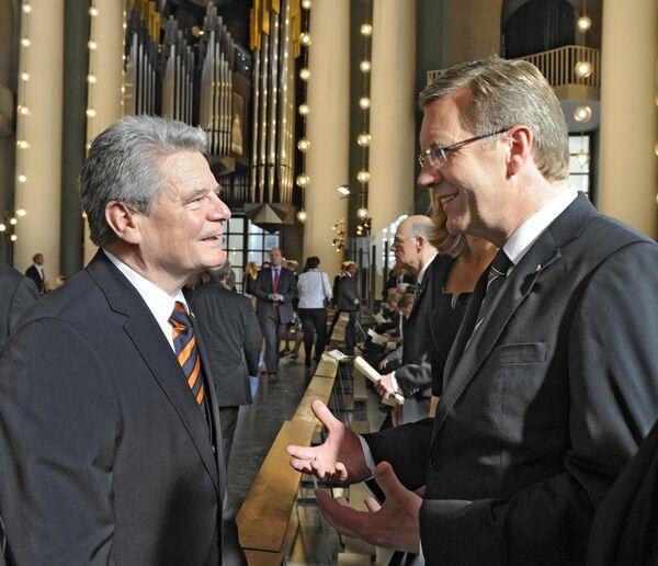 Йоахим Гаук и Кристиан Вульф, кандидаты на пост президента Германии