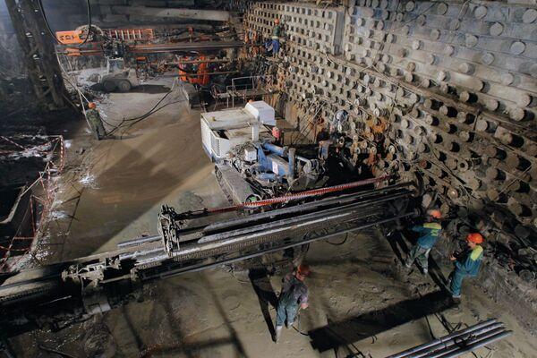 Строительство Алабяно-Балтийского тоннеля в Москве. Архив