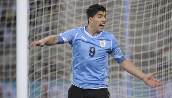 Форвард сборной Уругвая по футболу Луис Суарес