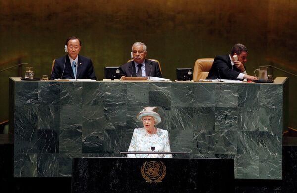 Елизавета II выступила в штаб-квартире ООН в Нью-Йорке