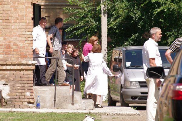 Встреча родственников погибших детей в Ейске