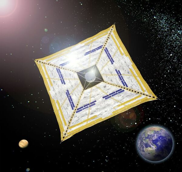 Солнечный парус космического аппарата Икар (Ikaros)