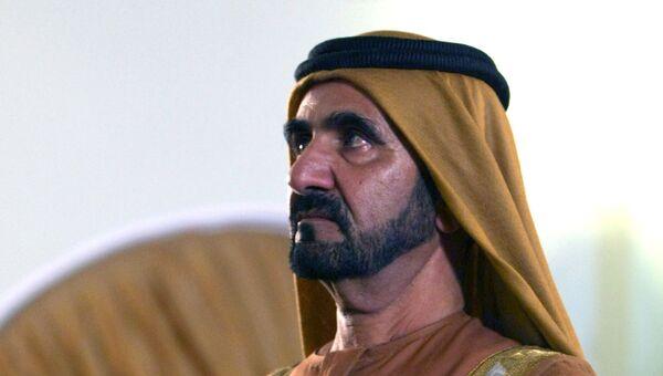 Вице-президент, премьер-министр ОАЭ, правитель Дубая Мухаммед Аль Мактум. Архивное фото