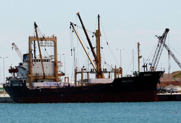 Судно Надежда (Amalthea) с ливийской гуманитарной помощью на борту