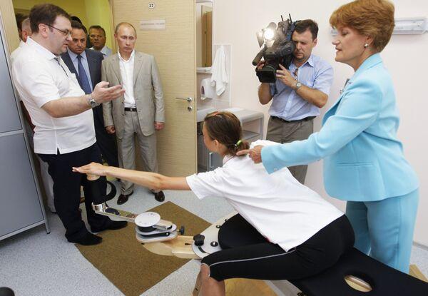 Владимир Путин посетил ФГУП Южный федеральный центр спортивной подготовки (Юг-Спорт)