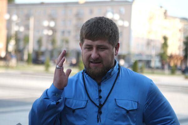 Президент Чеченской Республики Рамзан Кадыров. Архив