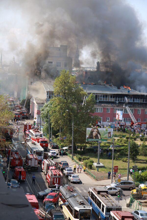 Фото пожара в реставрационном центре им. Грабаря