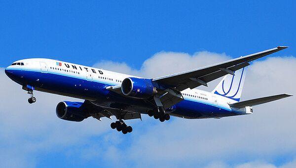 Самолет Boeing-777 авиакомпании United Airlines. Архивное фото