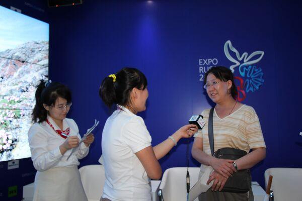Трехмиллионной посетительницей павильона РФ стала 45-летняя банковская служащая Лю Пэй