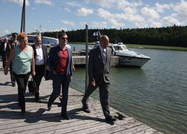 Дмитрий Медведев прибыл на остров Сейли в Балтийском море
