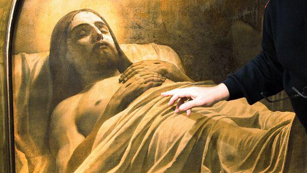 Фрагмент картины Карла Брюллова Христос во гробе, архивное фото