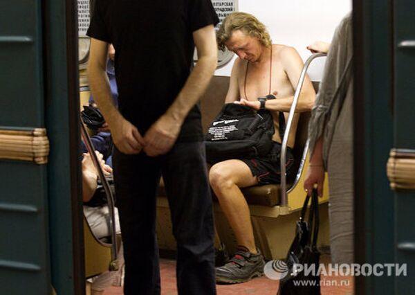 Жара в московском метро