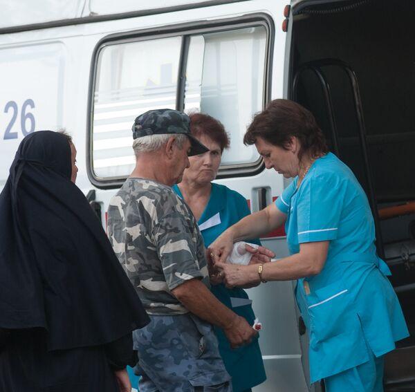 Пострадавшие при взрыве в Свято-Покровском храме в Запорожье