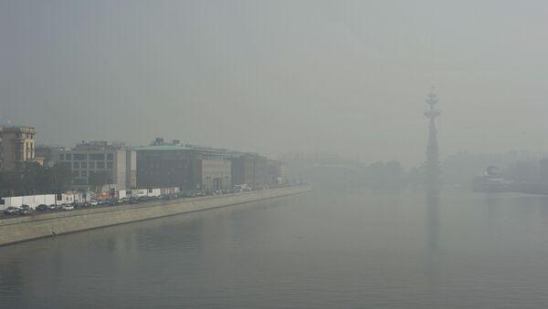 Туман в Москве. Архивное фото