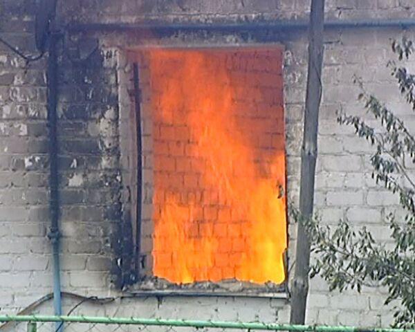 Последствия пожара в селе Излегоще Липецкой области. Видео с места ЧП