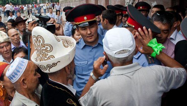 Митинг в поддержку Урматбека Барыктабасова на Старой площади Бишкека. Архив