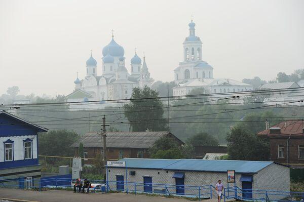 Вид на Свято-Боголюбовский женский монастырь. Архив
