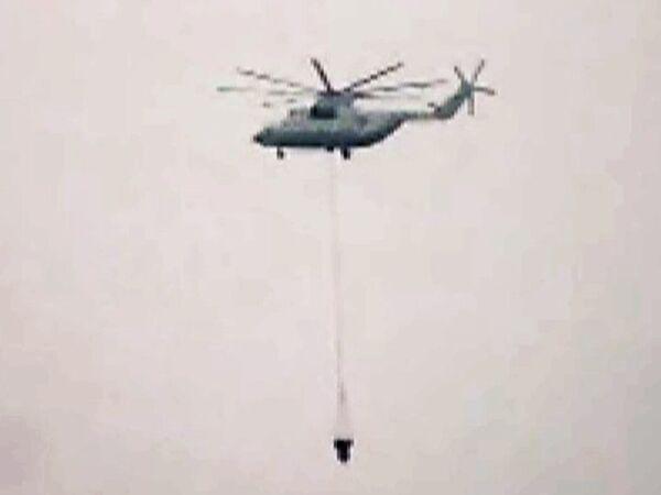 Лесные пожары в Подмосковье пытаются потушить вертолетами