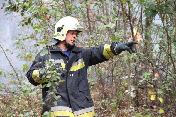 Тушение пожара в Павлово-Посадском районе