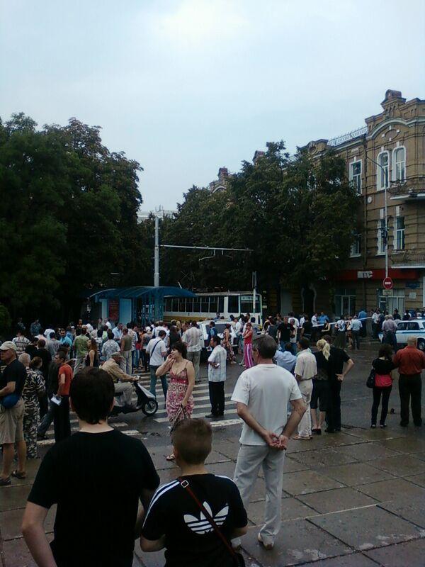 Взрыв в центре Пятигорска
