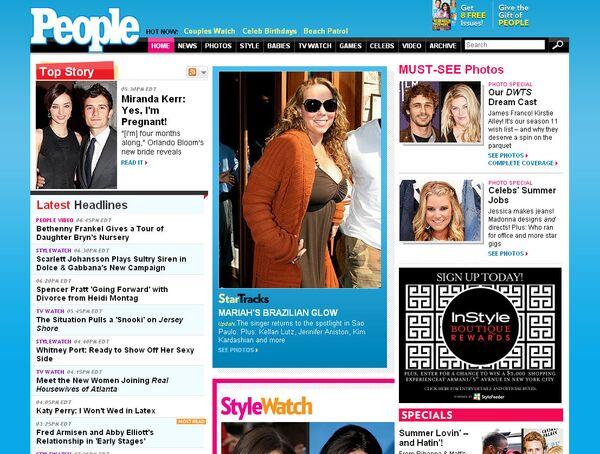 Cкриншот сайта журнала People